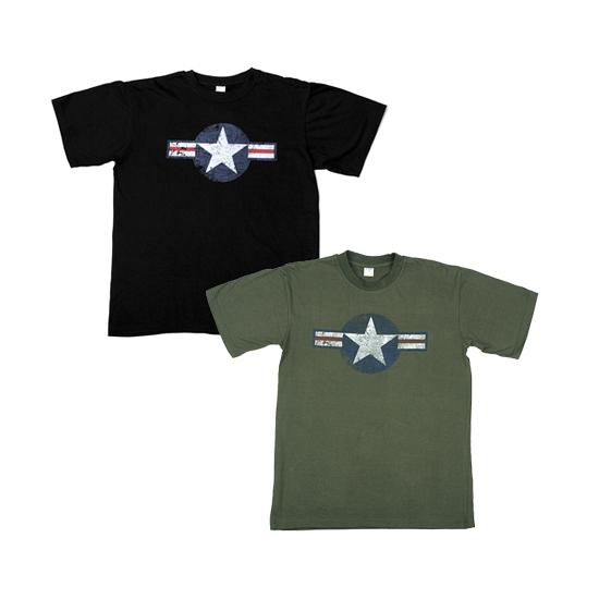 Zwart USAF t shirt voor heren