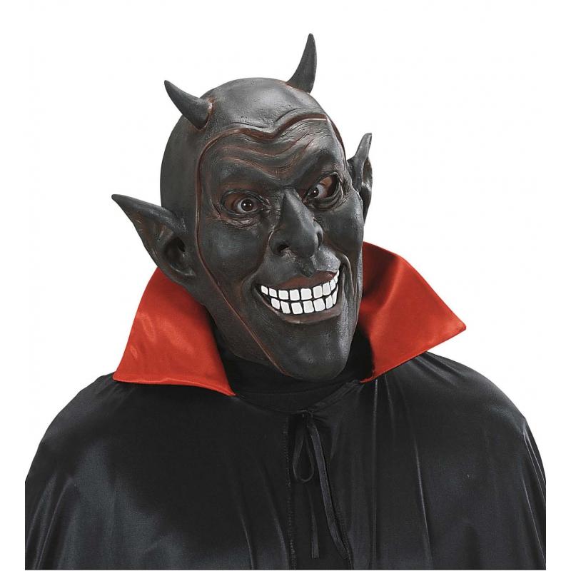 Zwarte duivel masker voor volwassenen