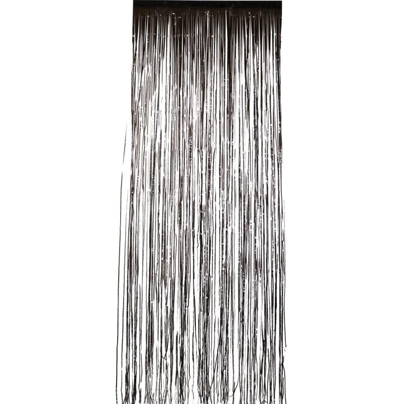 Zwarte folie deurgordijnen 2 x 1 meter