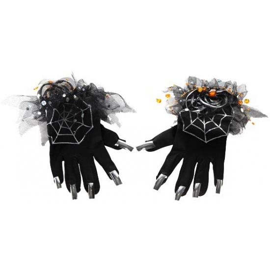 Zwarte heksen handschoenen