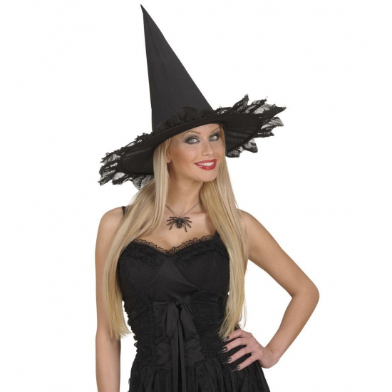 Zwarte heksen ketting met spin (bron: Oranjediscounter)