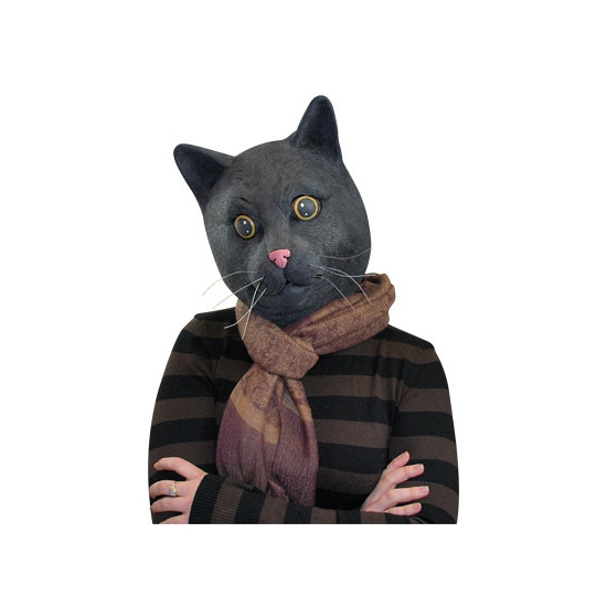 Zwarte katten maskers voor volwassenen