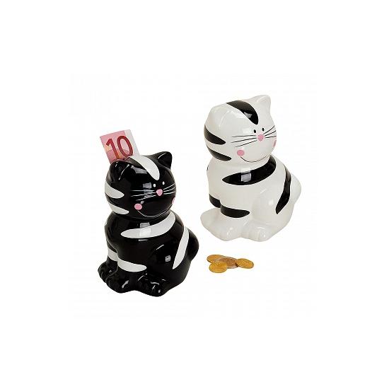 Zwarte katten spaarpot 14 cm