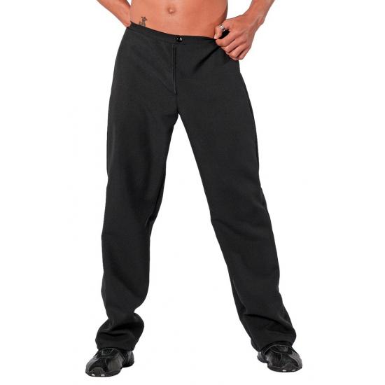 Zwarte kostuum broek
