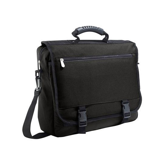 Zwarte laptoptassen 40 x 33 x 11 cm