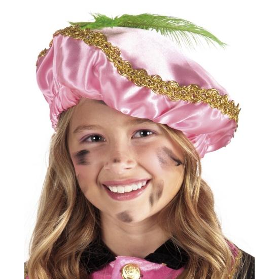 Zwarte Piet baretten roze