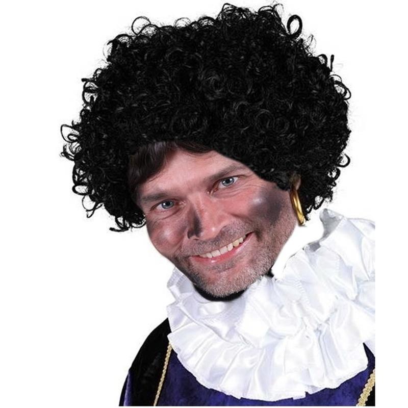 Zwarte Piet pruik deluxe
