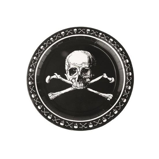 Zwarte piraten borden 23cm