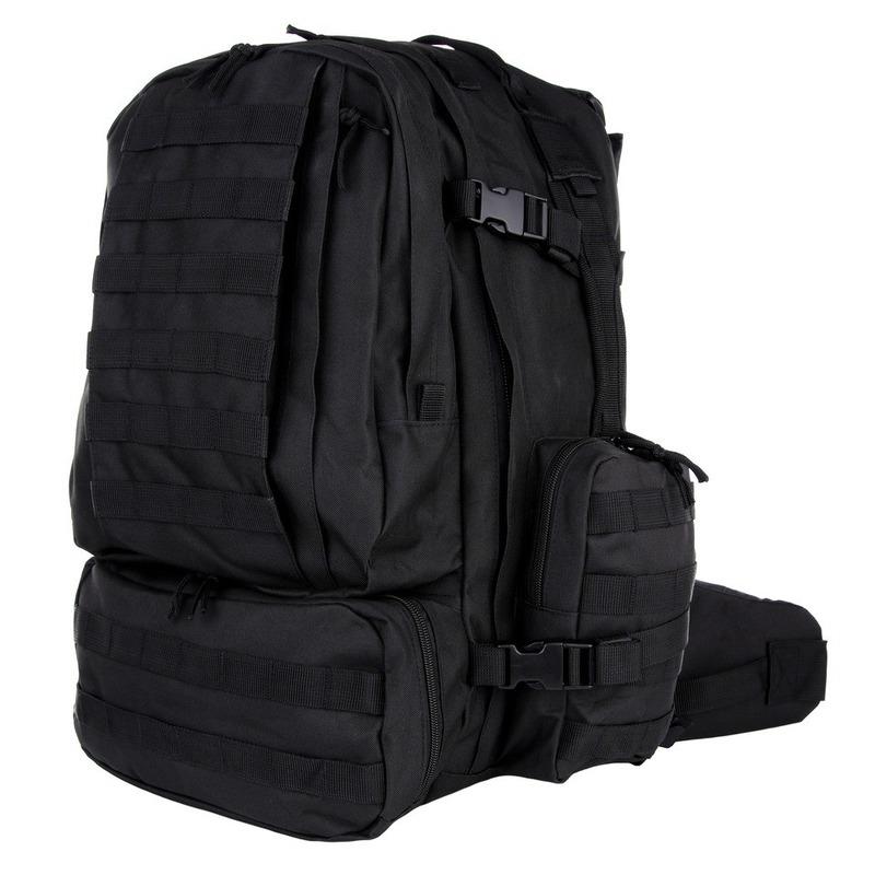 Zwarte rugzak 60 liter