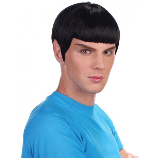 Zwarte Star Trek pruik