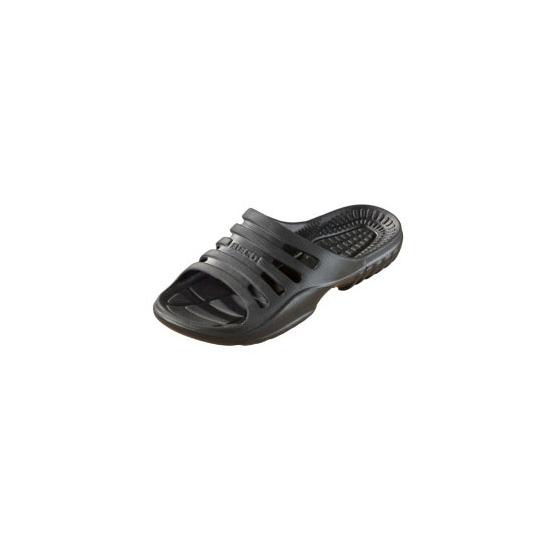 Zwarte strand slippers voor heren
