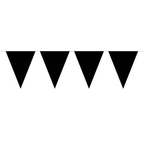 Zwarte vlaggenlijn groot 10 meter