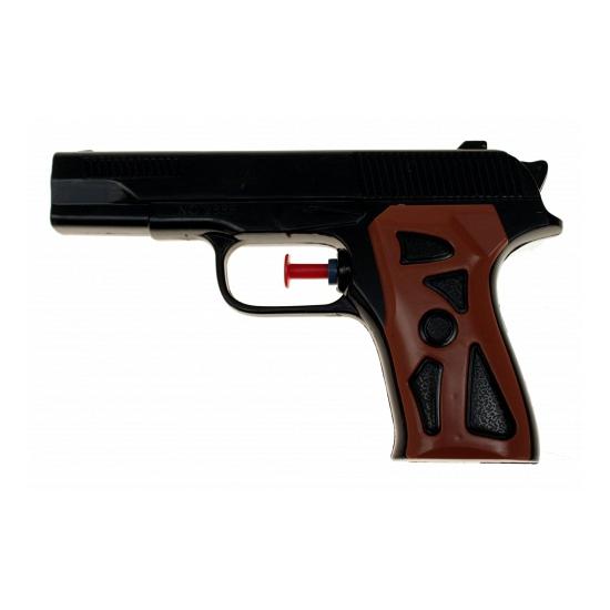 Zwarte waterpistolen 15 cm