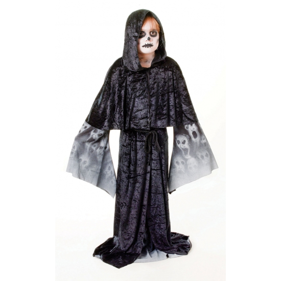 Zwarte zombie cape voor kinderen (bron: Oranjediscounter)