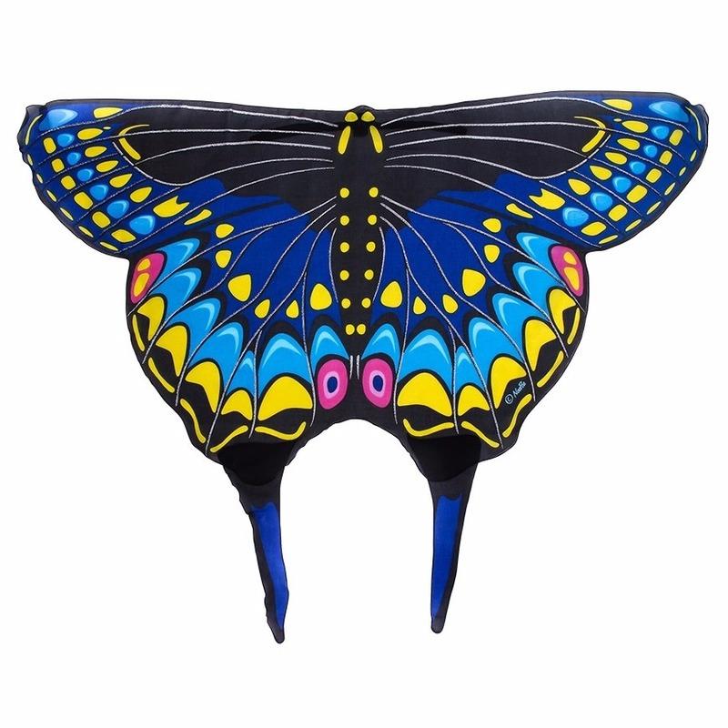 Zwarte zwaluwstaartvlinder kindervleugels