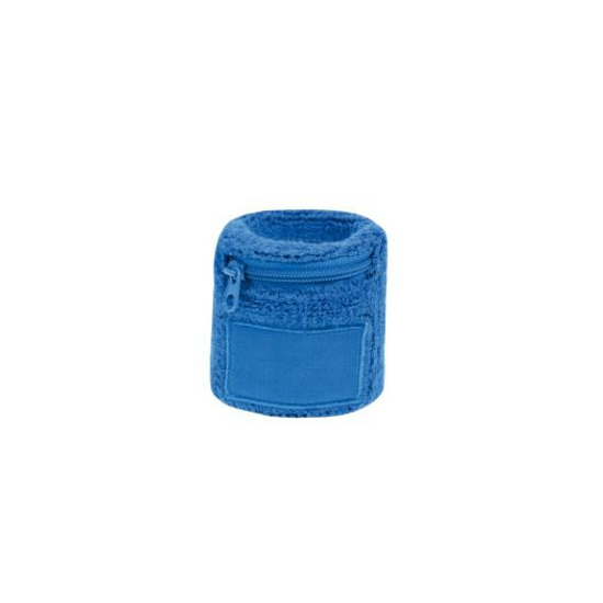 Zweetbanden met rits blauw
