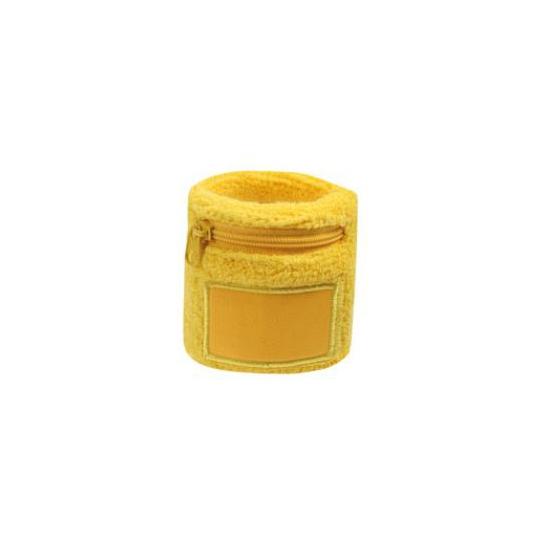 Zweetbanden met rits geel