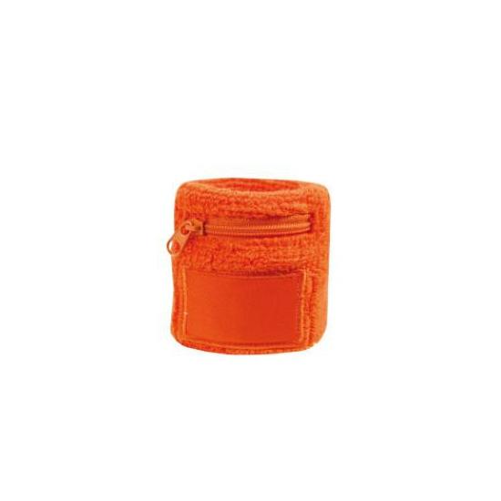 Zweetbanden met rits oranje