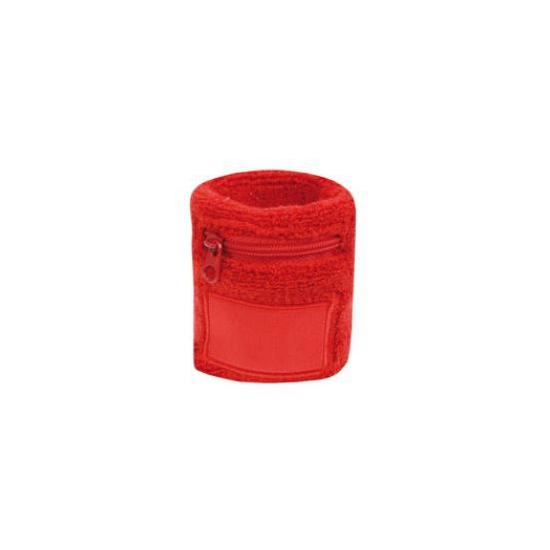 Zweetbanden met rits rood