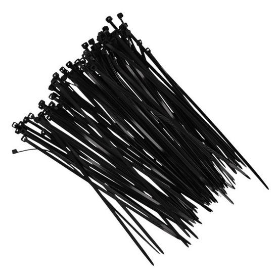 100x Kerstlampjes ophang-bevestiging materiaal tiewraps zwart