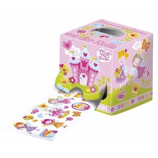 128 prinsessen stickers op een rol