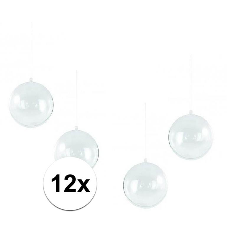 12x stuks Kerstballen om te vullen 14 cm