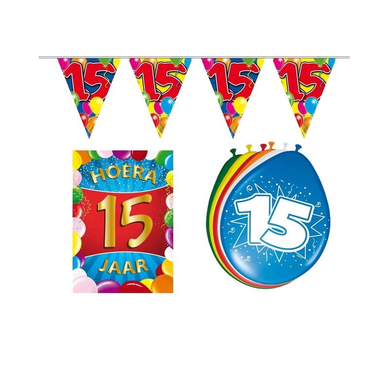 15 jaar geworden feestartikelen voordeel pakket