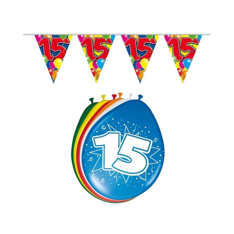 15 jaar geworden feestartikelen voordeel set