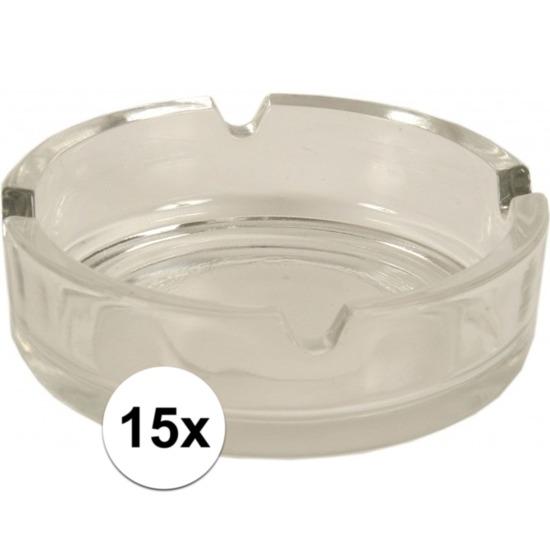 15x Asbakken van glas