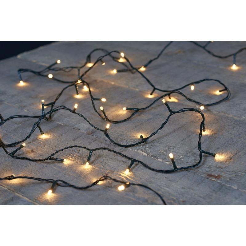 180 kerst LED lampjes warm wit voor buiten