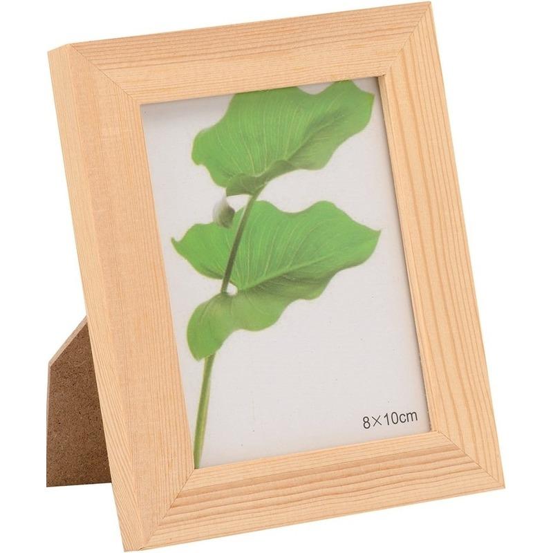 1x DIY fotolijstje knutselen-beschilderen voor 10 x 13 cm grote fotos
