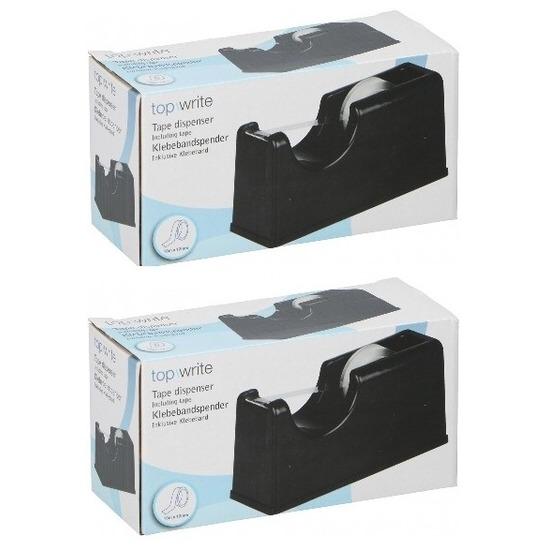 2 stuks plakband houders zwart 15 cm
