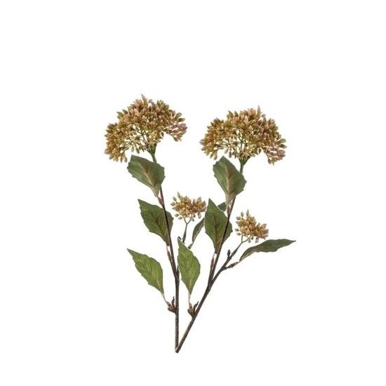 2 Stuks Sedum vetkruid decoratie kunstbloem tak 62 cm