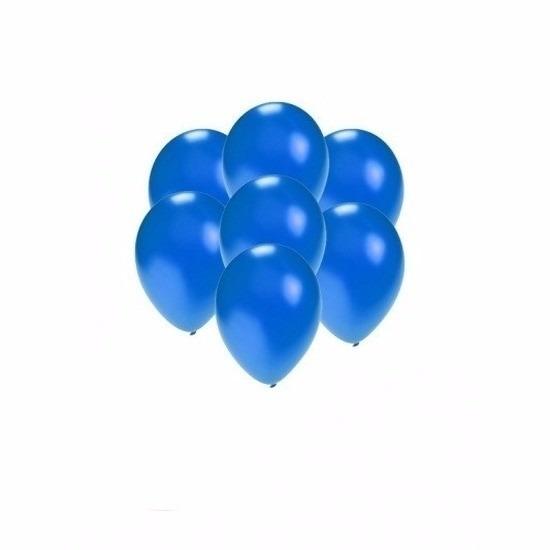 200x Mini ballonnen blauw metallic