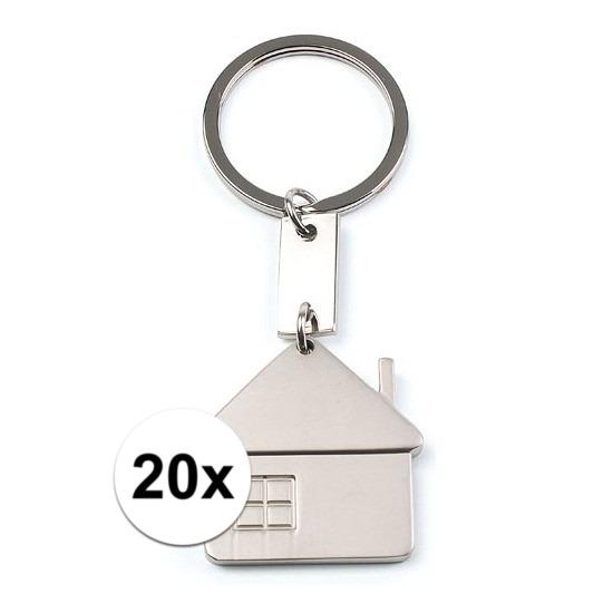 20x Housewarming sleutelhangers 3,5 cm