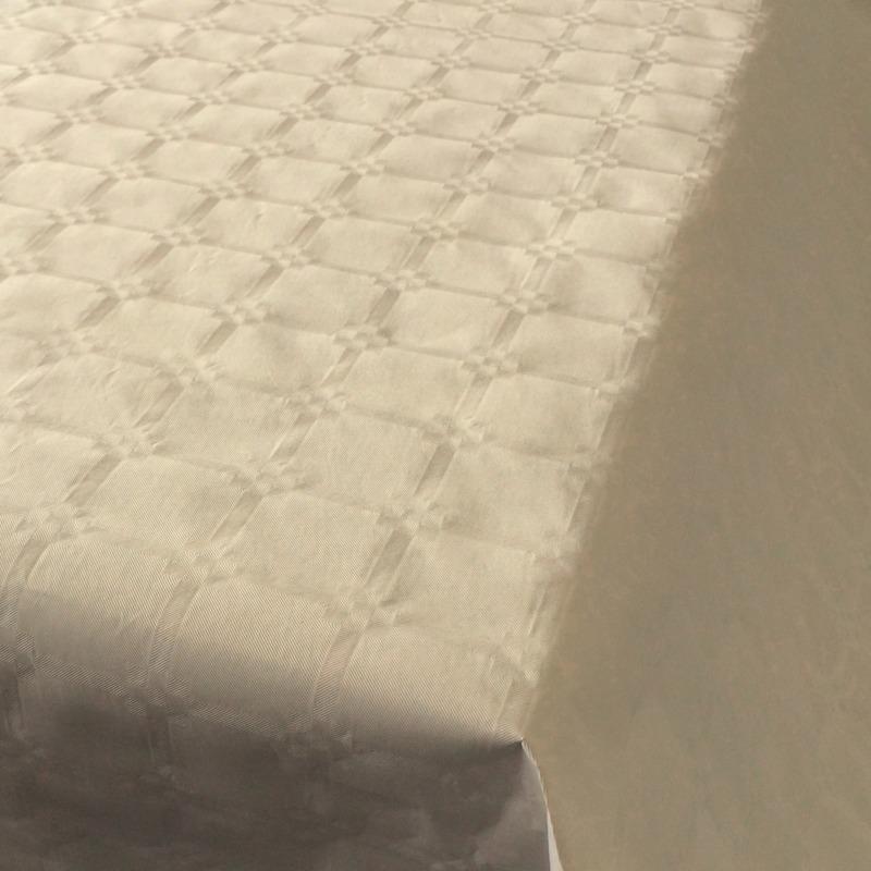 2x Beige thema versiering papieren tafelkleed 800 x 118 cm