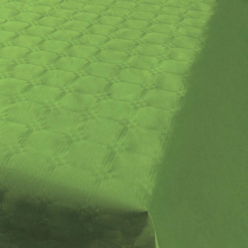 2x Lichtgroene thema versiering papieren tafelkleed 800 x 118 cm