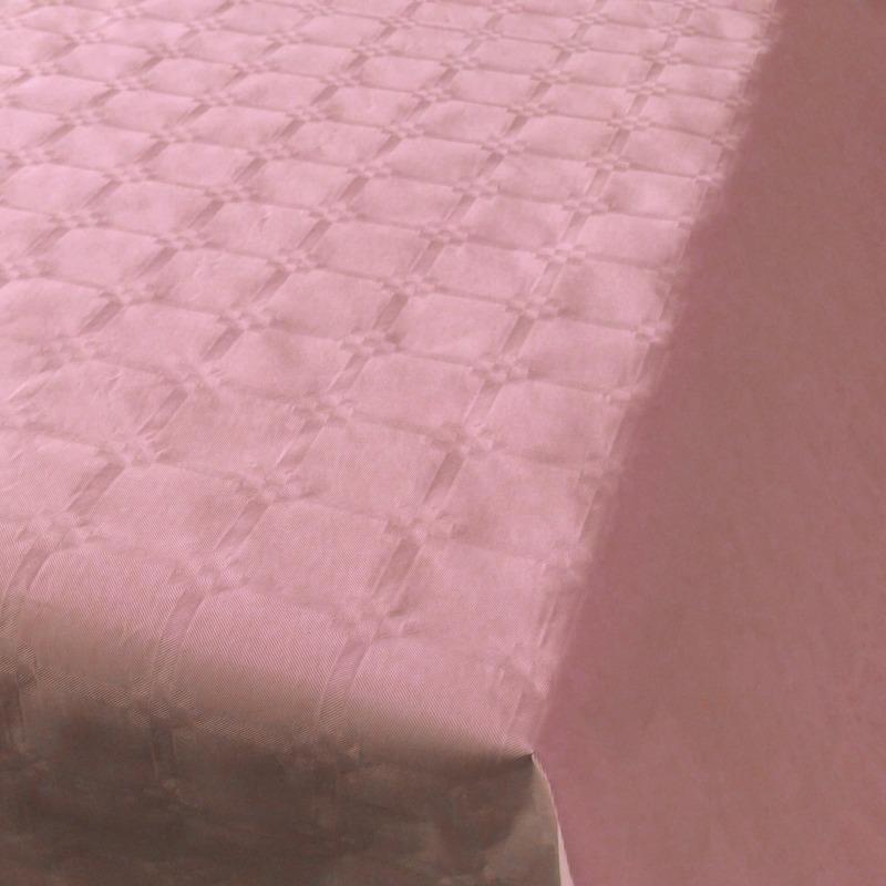 2x Lichtroze thema versiering papieren tafelkleed 800 x 118 cm