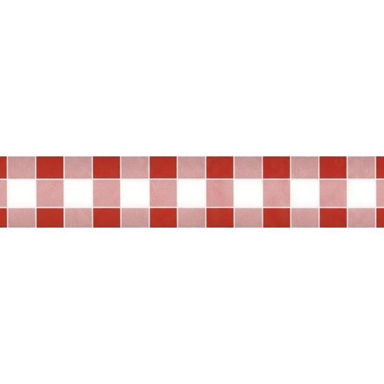 2x Rood/witte ruitjes thema versiering papieren tafelkleed 1000 x 118 cm