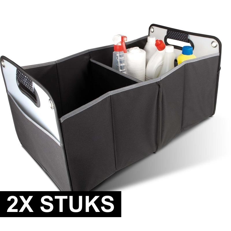 2x stuks kofferbak opberg tas voor auto spullen 35 x 30 x 60 cm