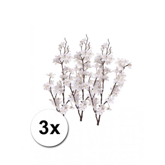 3 witte appelbloesem takken 84 cm