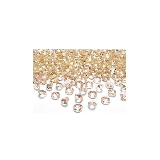 30x Gouden trouwdecoratie diamantjes