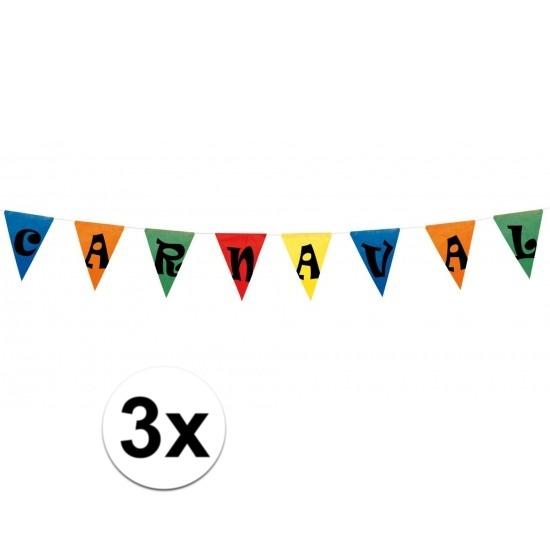 3x vlaggenlijn carnaval 10 meter