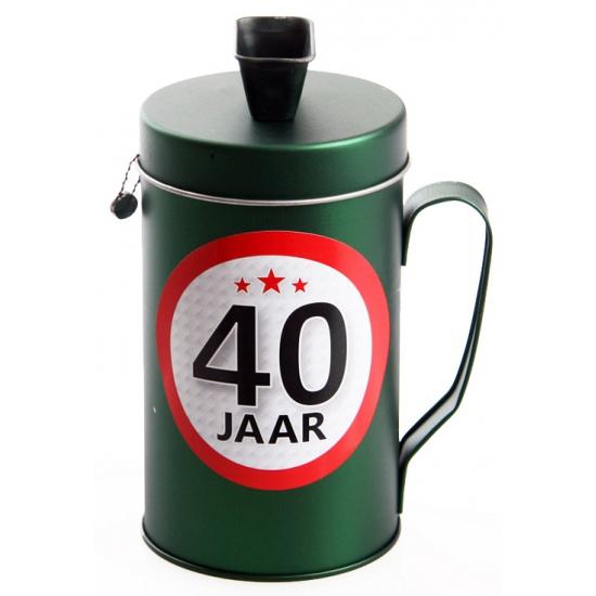 40 jaar kado spaarpot/ collectebus