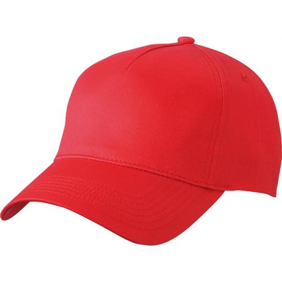5 panel baseball cap rood dames en heren