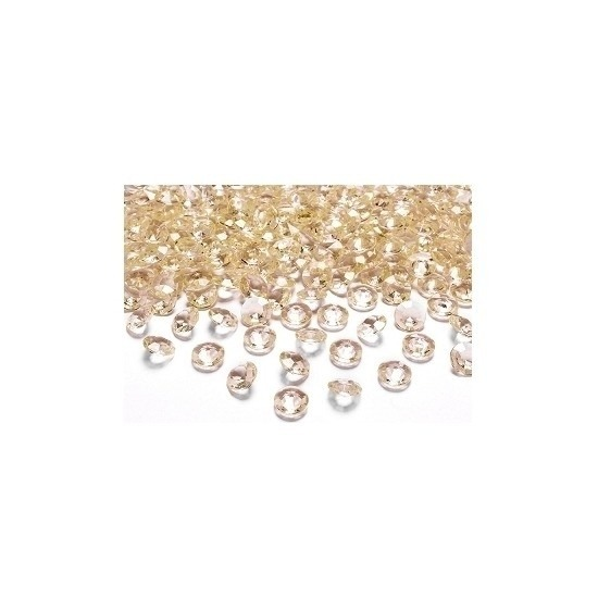 50x Gouden trouwdecoratie diamantjes
