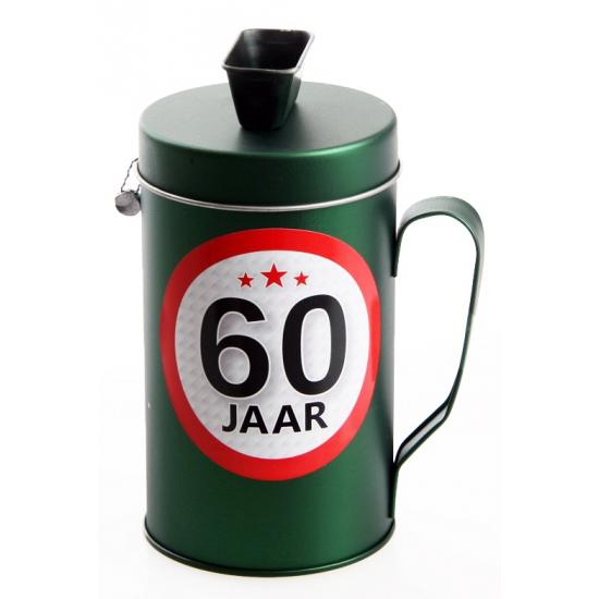 60 jaar kado spaarpot/ collectebus