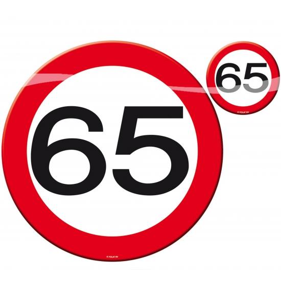 65 jaar verjaardag tafel decoratie