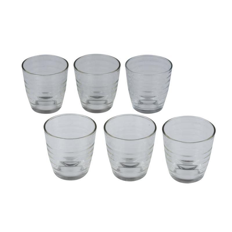6x Sap-water glazen 225 ml transparant