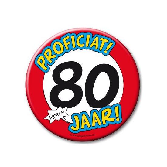 80e verjaardag button XXL feestartikelen